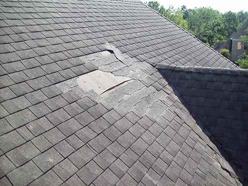 roof storm damage on Port Orchards residential roof